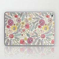 feather fleur watercolor Laptop & iPad Skin