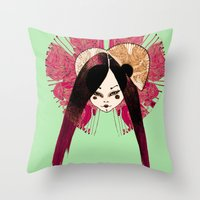 Ma Petite Japonaise V4 Throw Pillow