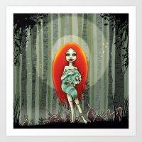 Forest fairey Art Print