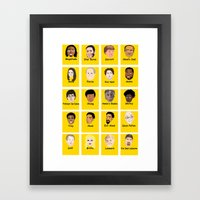 Community Guess Who Faces Framed Art Print