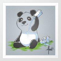 Panda in my FILLings Art Print