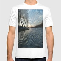 Lost In The Waves Mens Fitted Tee White SMALL