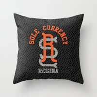 Sole Currency Regina Throw Pillow