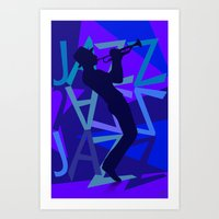 Big Jazz II Art Print
