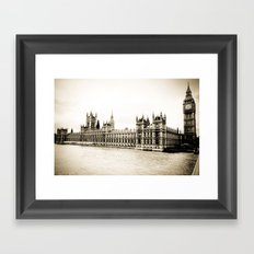 Big Ben and the Houses of Parliament  Framed Art Print