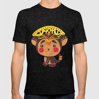 The Little Monkey King Mens Fitted Tee Tri-Black SMALL