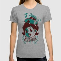 Hello nurse! Womens Fitted Tee Athletic Grey SMALL