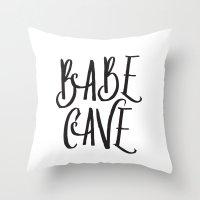 Babe Cave Throw Pillow