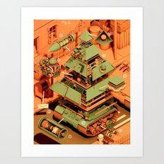 Super Tanklord Anatomy II Art Print