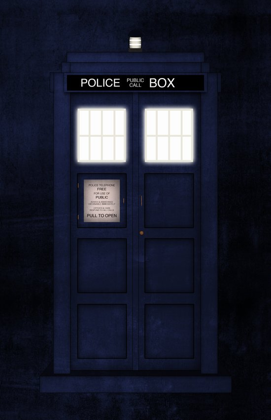 It's the Tardis (Variant): Tardis Grunge Art Print