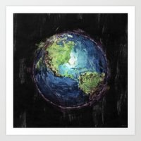 Earth And Space Art Print