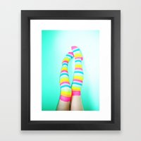 Rainbow Legs Framed Art Print