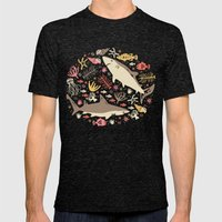 Oceanica Mens Fitted Tee Tri-Black SMALL