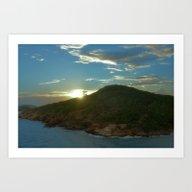 Last Sun Rays Over The F… Art Print