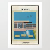 Hockney+neutra Art Print