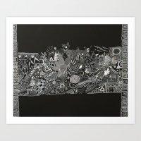 Blanco and Black Art Print
