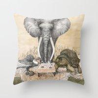 Council Of Animals  Throw Pillow
