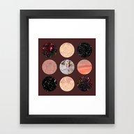 Pattern Circles #1 Framed Art Print