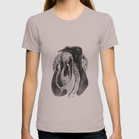 bird ink Womens Fitted Tee Cinder SMALL