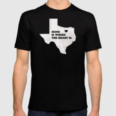 Home - Texas SMALL Black Mens Fitted Tee