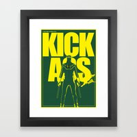 KICK ASS Framed Art Print