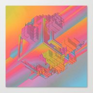 Canvas Print featuring NYC (everyday 09.29.15) by Beeple