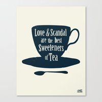 Love & Scandal Are The B… Canvas Print