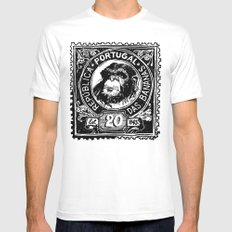 República das Bananas SMALL White Mens Fitted Tee