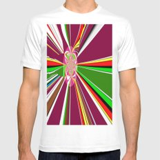 A burst of hope Mens Fitted Tee SMALL White