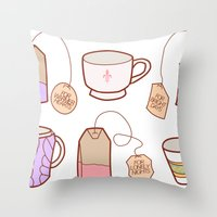 idealist tea Throw Pillow