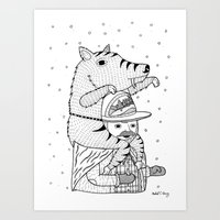 More on the topic of winter hats Art Print