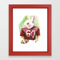 little football bunny Framed Art Print
