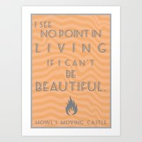 Howl's Moving Castle Beautiful Quote Art Print