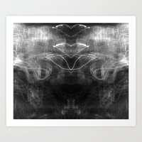 Heart Light (Black and White) Art Print