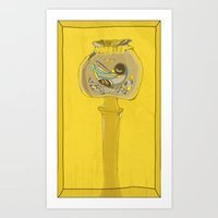 Poppy Pod Bird Art Print