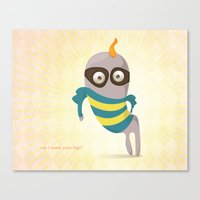 Can I Name Your Legs? Canvas Print