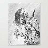 Aim for the head, dammit Canvas Print