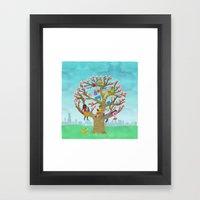 Tree Readers Framed Art Print