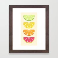 Half Citrus Framed Art Print