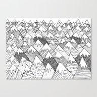 Pattern Hills Canvas Print