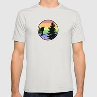 Hiking Mens Fitted Tee Silver SMALL