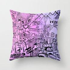 Funky Town Pt. 2 Throw Pillow
