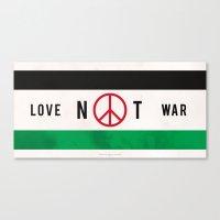 Love Not War 1 Canvas Print