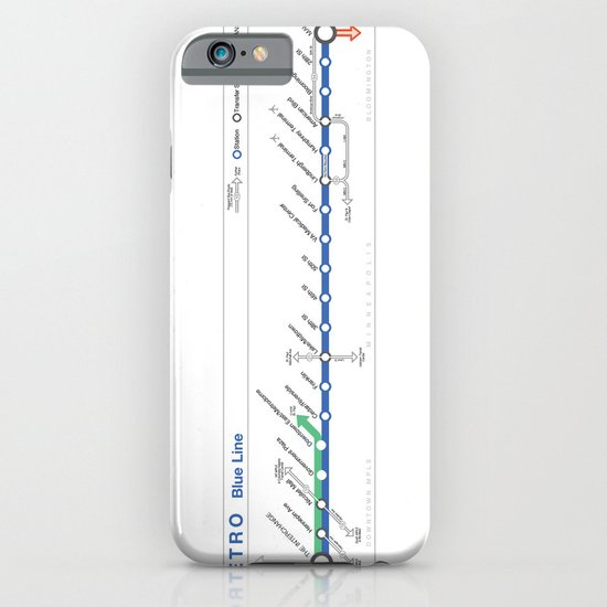 Twin Cities METRO Blue Line Map iPhone & iPod Case