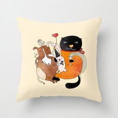 Celebrate Animals Throw Pillow
