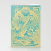 Geometromorphic Sky Stationery Cards