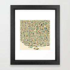 Toronto Map Framed Art Print