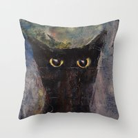Ninja Cat Throw Pillow