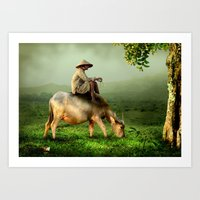 Resting Shepherd Art Print