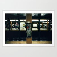 Metro Phone Call Art Print